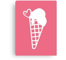 Pink Bubble Gum Snow Cone Canvas Print