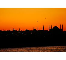 Istanbul sunset Photographic Print