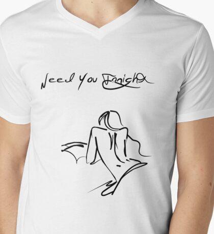 Need You Tonight Mens V-Neck T-Shirt