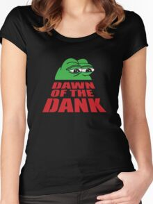 Pepe Frog Dawn of the Dank Women's Fitted Scoop T-Shirt