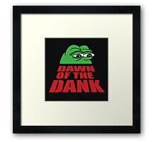 Pepe Frog Dawn of the Dank Framed Print