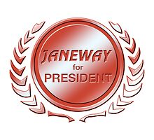 Janeway for President by ImagineThatNYC