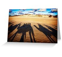 Shadows in the sand Greeting Card