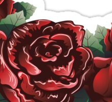 Red Roses with Leaves 2 Sticker