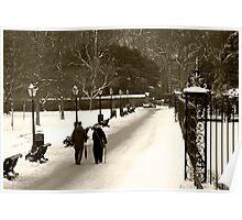 Kensington Gardens White Winter Poster
