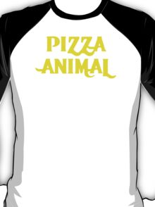 PIZZA ANIMAL funny diet gym gift New T-Shirt