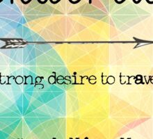 Wanderlust- A strong desire to travel- Geometric tumblr colors Sticker