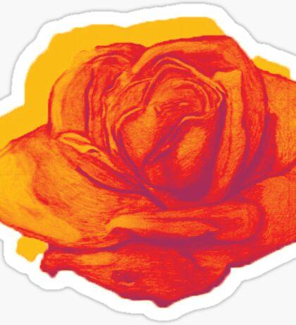 Firey Rose Sticker