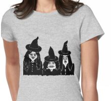 halloween witches funny spooky and scary  Womens Fitted T-Shirt