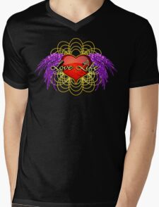 Love Life Vector 1 Mens V-Neck T-Shirt