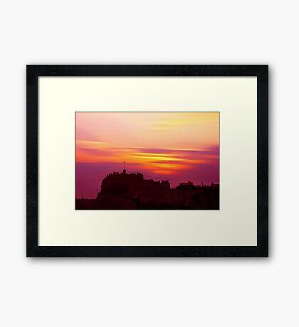 Edinburgh Castle Sunset Framed Print