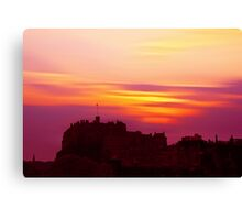 Edinburgh Castle Sunset Canvas Print