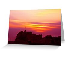 Edinburgh Castle Sunset Greeting Card