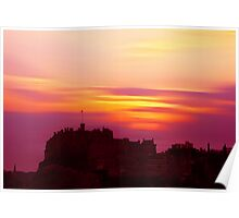 Edinburgh Castle Sunset Poster
