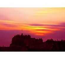 Edinburgh Castle Sunset Photographic Print