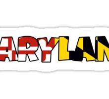Maryland flag word art Sticker