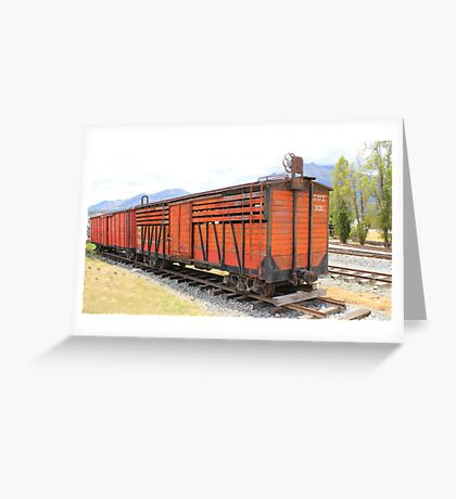 Railway Box Cars Greeting Card