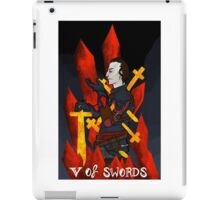 5 of Swords iPad Case/Skin