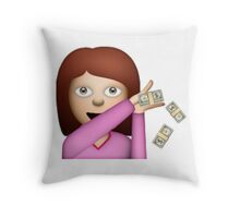 Make It Rain Emoji Design - DROP THOSE DOLLAS. Throw Pillow