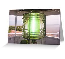 Fresnel Lens, West Point Lighthouse, PEI, Canada Greeting Card