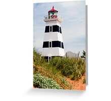 West Point Lighthouse, PEI, Canada Greeting Card