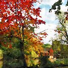 Distant Mill  in Autumn by Susan Savad