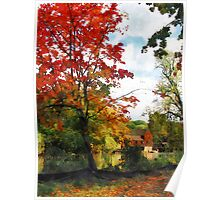 Distant Mill  in Autumn Poster