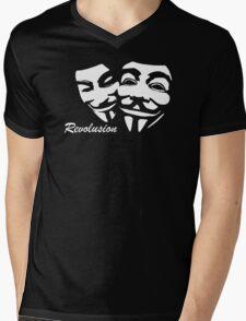 Revolution Anonymous  Maske V wie Vendetta Fun T-Shirt