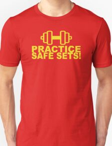 SAFE SEX TRAIN GYM WORKOUT funny gift T-Shirt