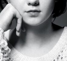 Maisie Williams Black & White Sticker