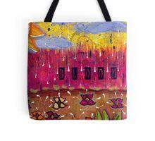 Raindrops on Petals Tote Bag