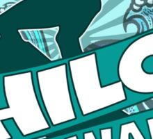 Hilo Hawaii teal surfer logo Sticker