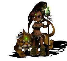 Nidalee The Bestial Huntress by Danniesaurus