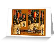 Autumn Pumpkin Harvest Collage Greeting Card