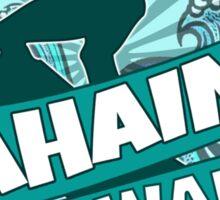 Lahaina Hawaii teal surfer logo Sticker