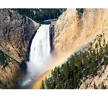 Morning Rainbow Over Lower Falls of the Yellowstone Photographic Print