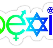 Coexist Rainbow Sticker