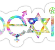 Coexist Trippy Sticker