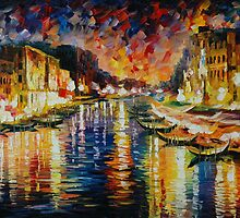 VENICE GRAND CANAL - LEONID AFREMOV by Leonid  Afremov