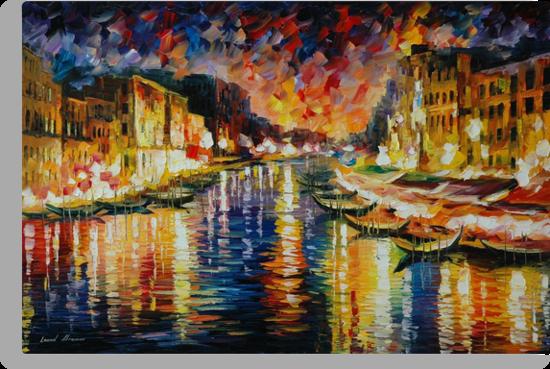 VENICE GRAND CANAL - LEONID AFREMOV by Leonid  Afremov