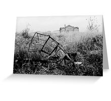 Abandoned Trike Greeting Card