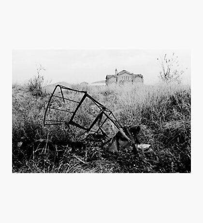 Abandoned Trike Photographic Print