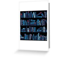 Keep Reading. Black. Greeting Card