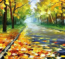 FALL ALLEY - LEONID AFREMOV by Leonid  Afremov