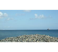 Penzance  - Mount of Pebbles  Photographic Print