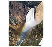 Lower Falls of the Yellowstone with Morning Rainbow Poster