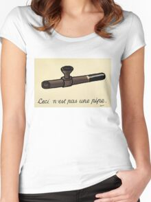 This is not a Pipe Women's Fitted Scoop T-Shirt