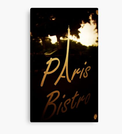 Paris Bistro Canvas Print