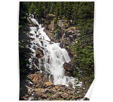 Hidden Falls in the Grand Teton Mountain Range Poster