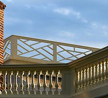 Railings on the Roof of Thomas Jefferson's Summer Home by BCallahan